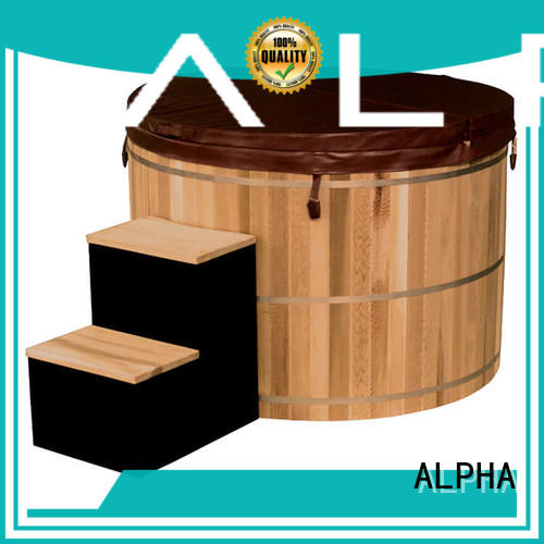 ALPHA tub wooden hot tub design for bathroom