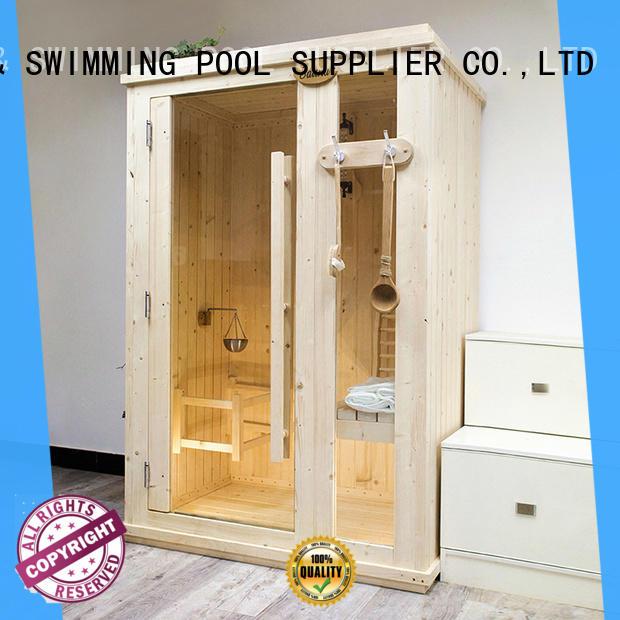 wood indoor sauna customized for bathroom ALPHA