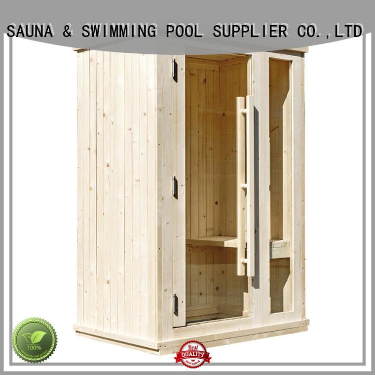 clear indoor sauna customized for bathroom