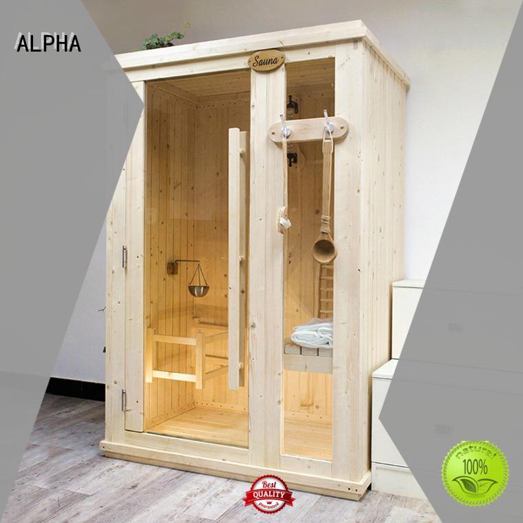 dry indoor outdoor sauna customized for household ALPHA