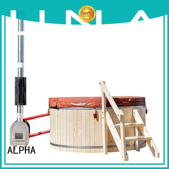 ALPHA Latest wood heated hot tub company
