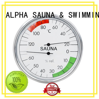 oblique sauna thermometer hygrometer hygrometer​ from China for bathroom