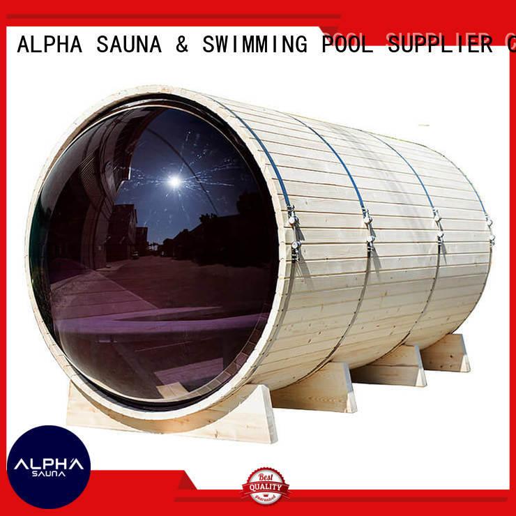 ALPHA sauna panoramic sauna supplier for household