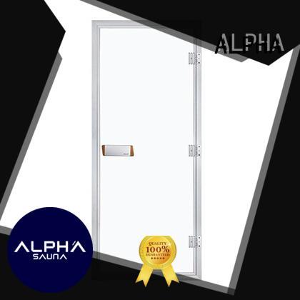 ALPHA Brand clear doors custom sauna wood door
