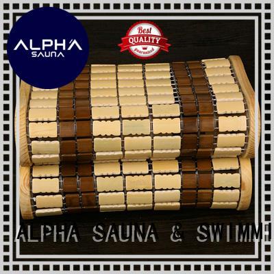 durable cedar sauna headrest design for household
