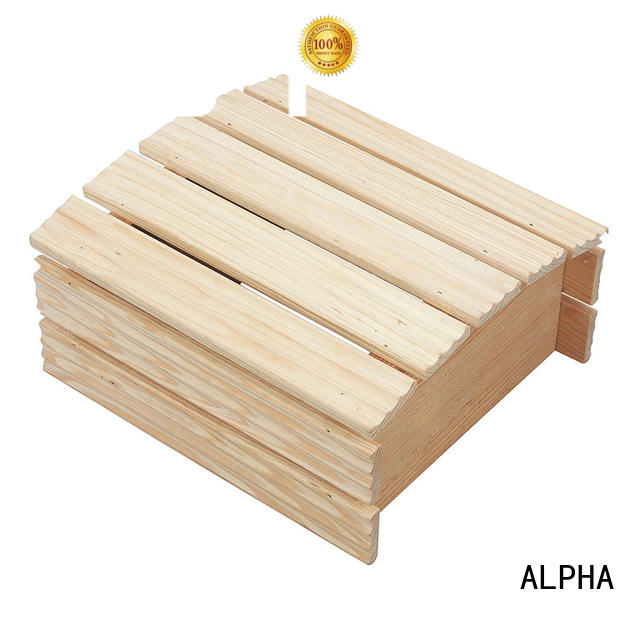 sauna cedar wood ALPHA Brand sauna room accessories factory