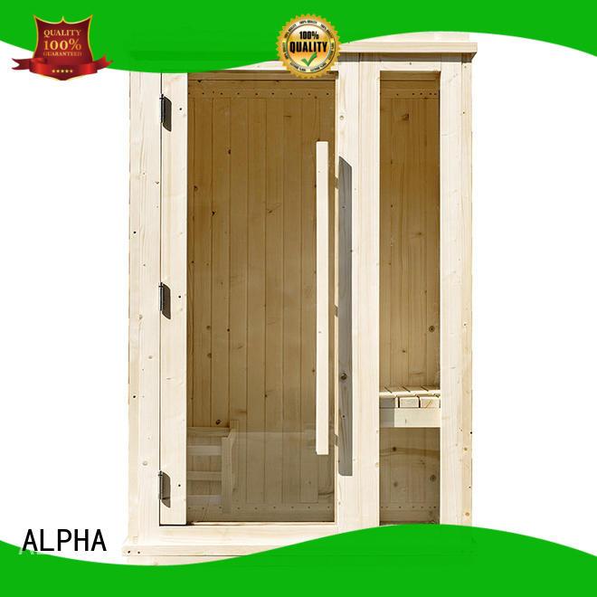 ALPHA wood mini sauna directly sale for bathroom