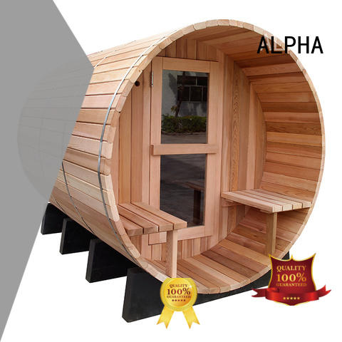 red outdoor sauna wholesale for hotel ALPHA