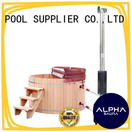 ALPHA Canadian wood heated hot tub manufacturer for indoor