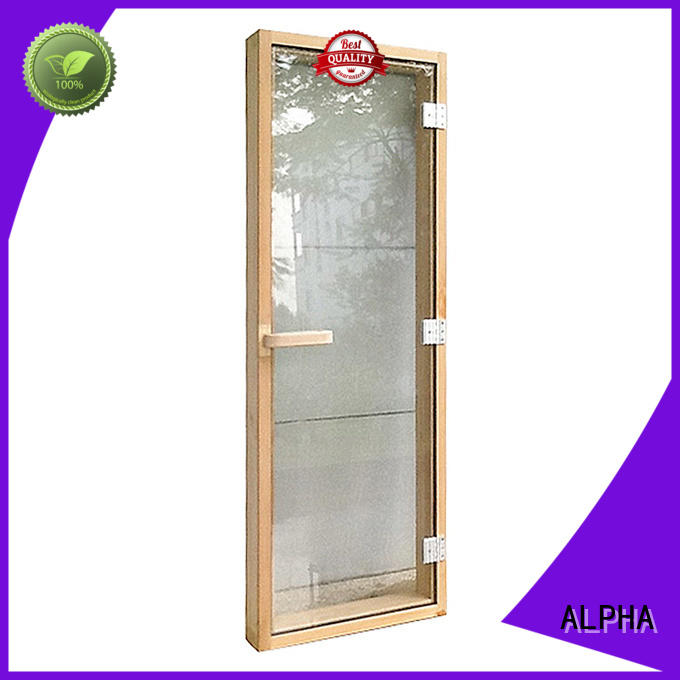 ALPHA wooden sauna door wholesale for hotel