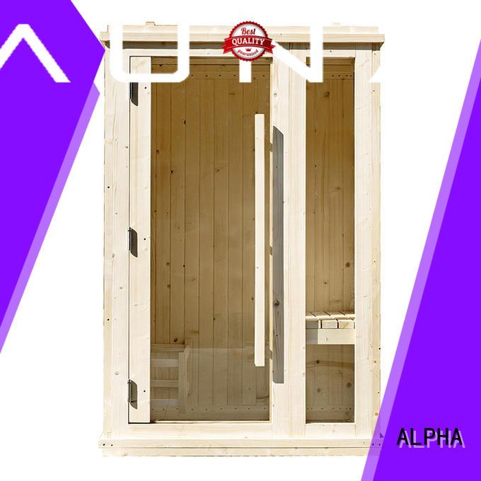 ALPHA wall 2 person indoor sauna design for bathroom