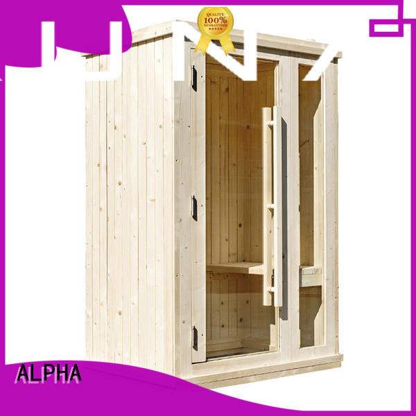 ALPHA red indoor sauna kits from China for household