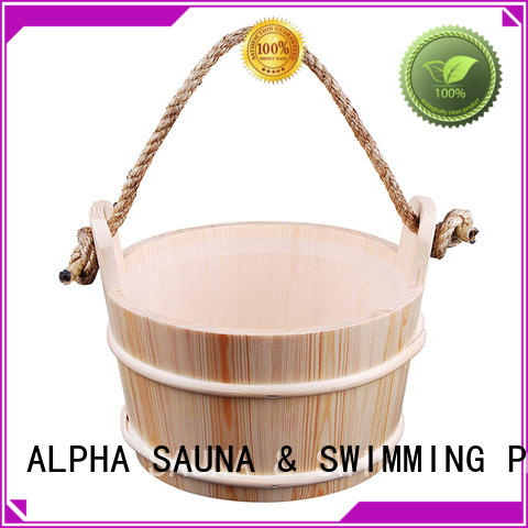 ALPHA pine wooden bucket manufacturer for indoor