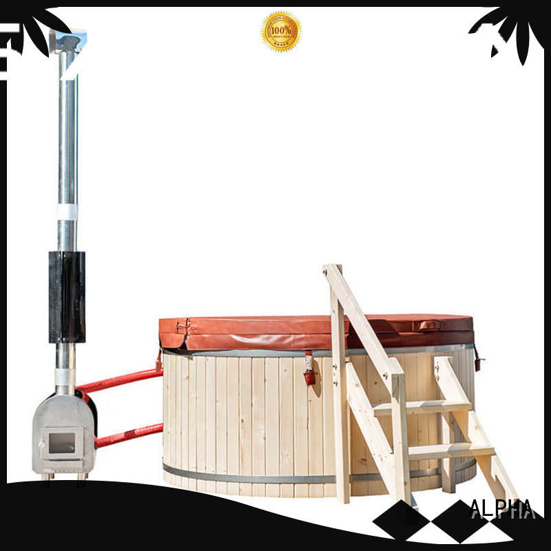 external wood stove hot tub construction manufacturer for outdoor