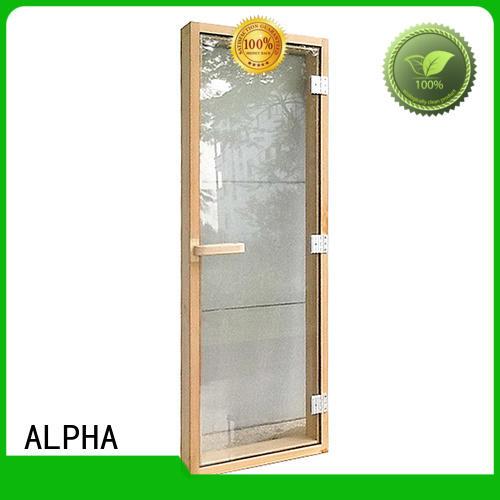 sauna wood door windown spruce door Warranty ALPHA