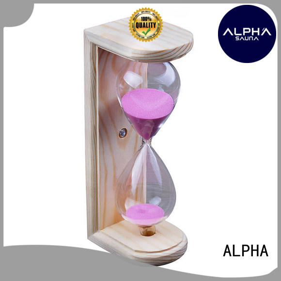 sand timer in sauna spruce for villa ALPHA