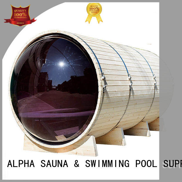 ALPHA panoramic clearview sauna supplier for bathroom
