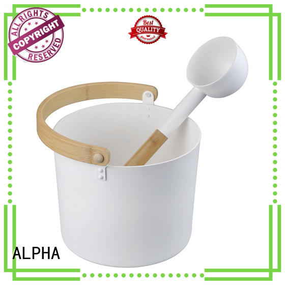 ALPHA cedarspruceaspen sauna bucket and ladle inquire now for cabin
