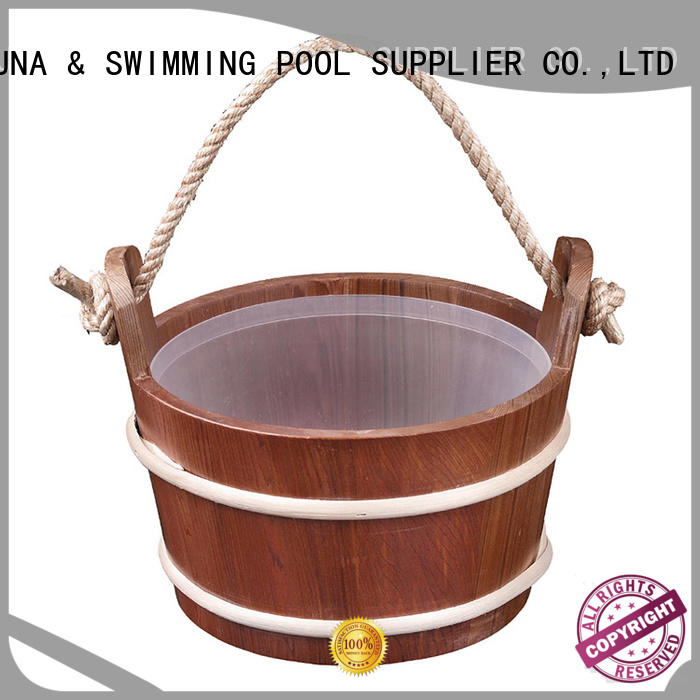 ALPHA dry sauna bucket and ladle inquire now for villa