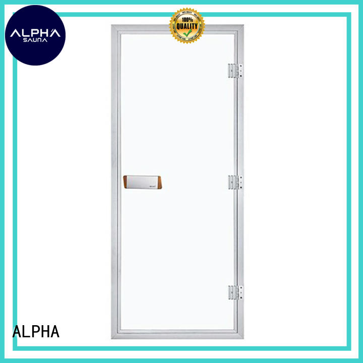 ALPHA stainless steel steam room glass doors wholesale for household