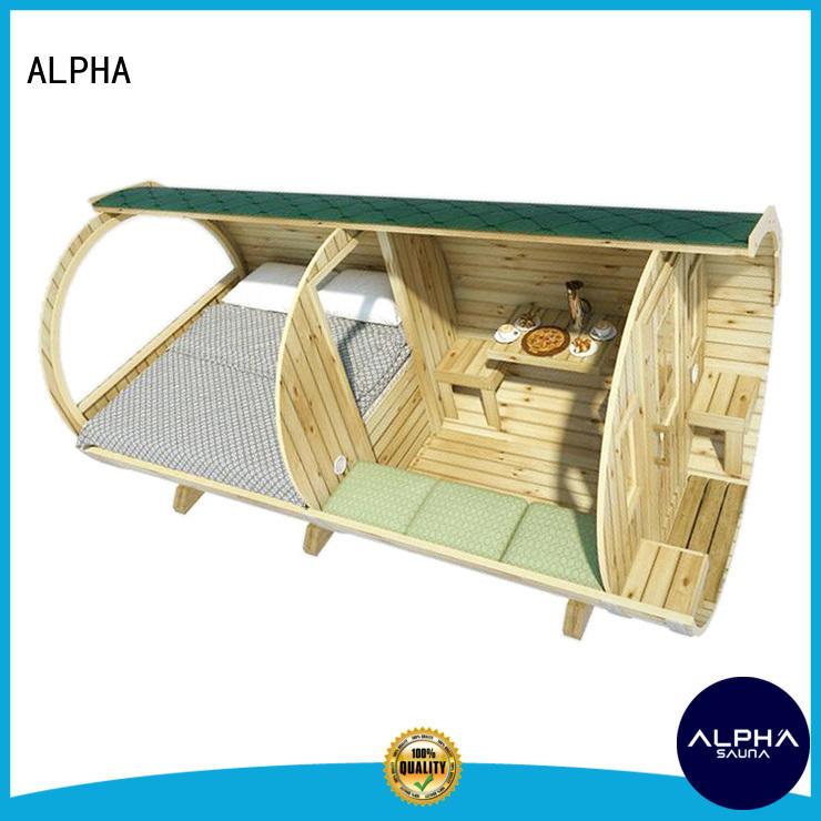 ALPHA Custom camping house factory