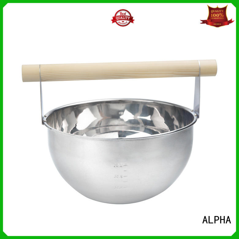 ALPHA aspenred sauna accessories wholesale for hotel