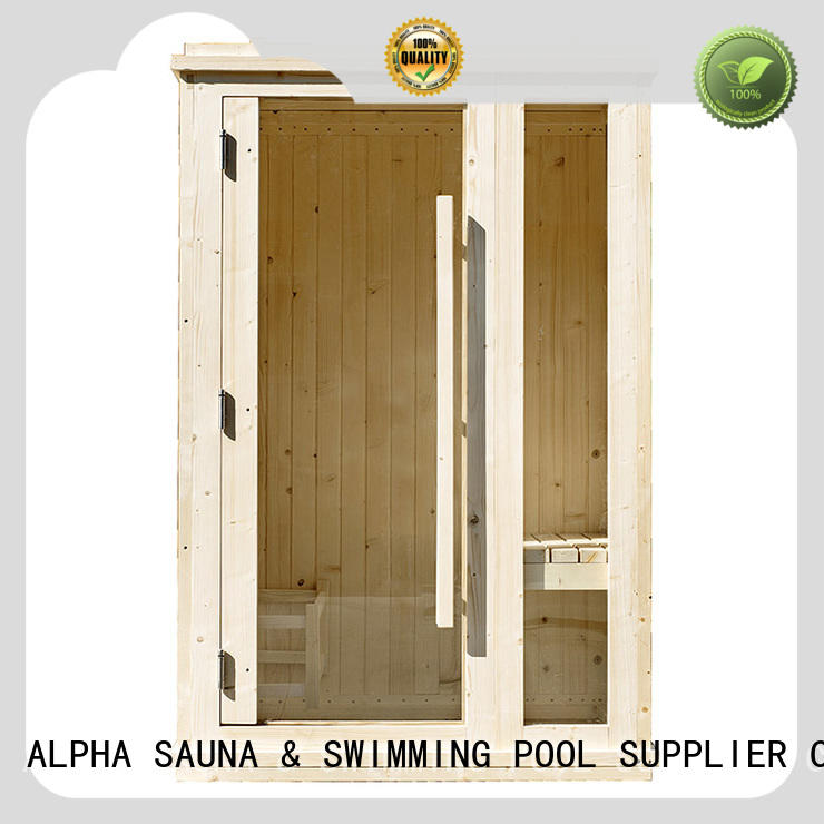 panel indoor steam sauna kits supplier for outdoor ALPHA