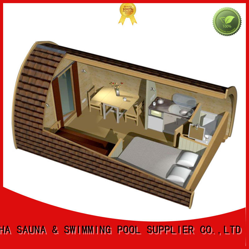 ALPHA alphasauna glamping pods series for outdoor
