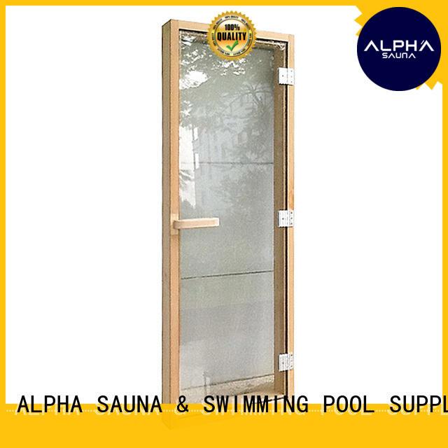 ALPHA Custom sauna glass door factory