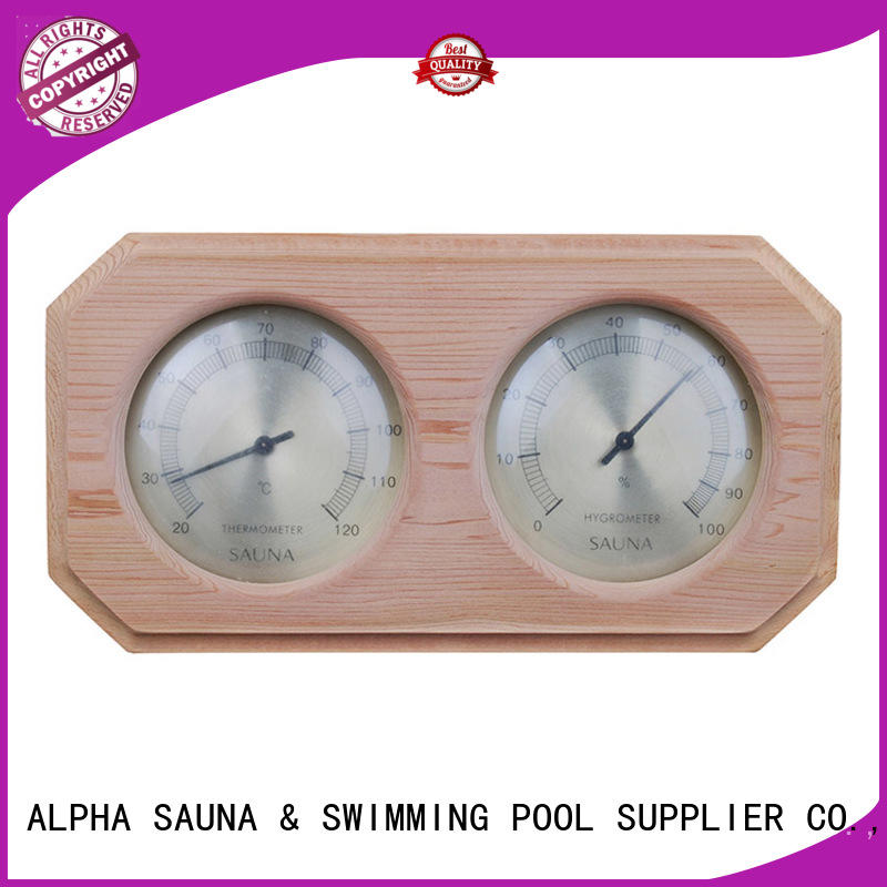 angledsauna thermometer hygrometer golden from China for indoor