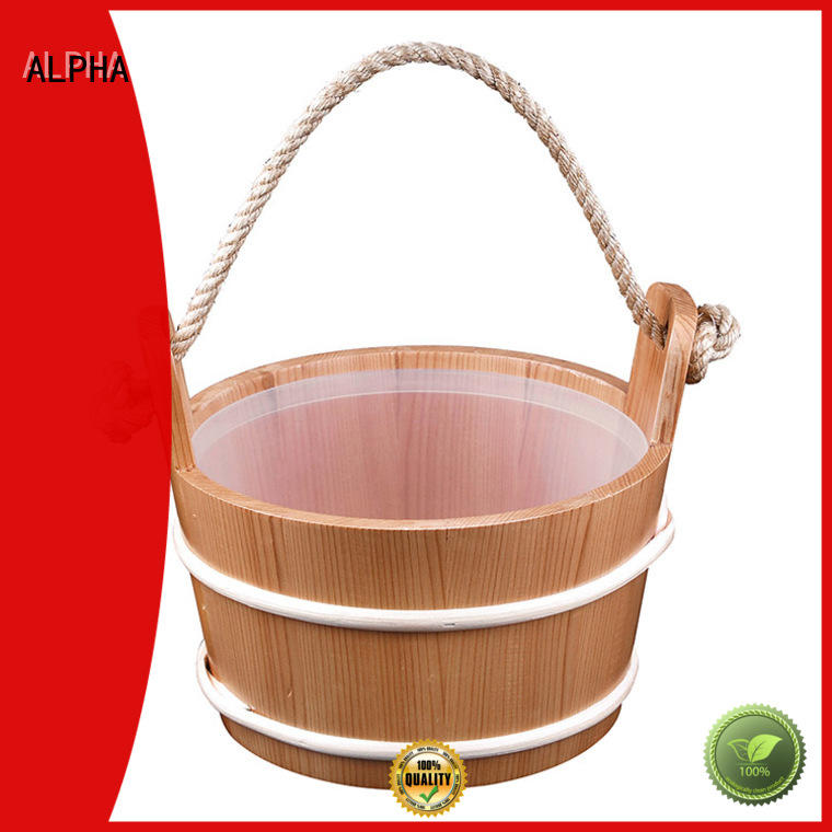 ALPHA dry wooden bucket inquire now for outdoor