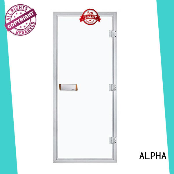 ALPHA western sauna room door series for bathroom