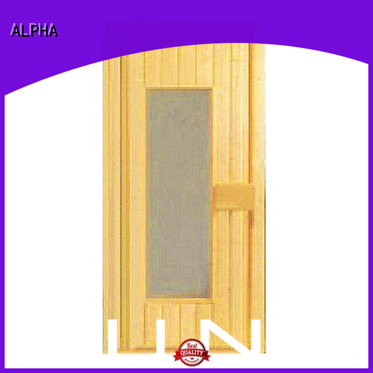 ALPHA New cheap sauna doors manufacturers