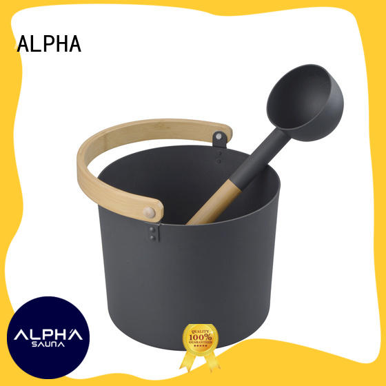 Wholesale sauna bucket and spoon Suppliers