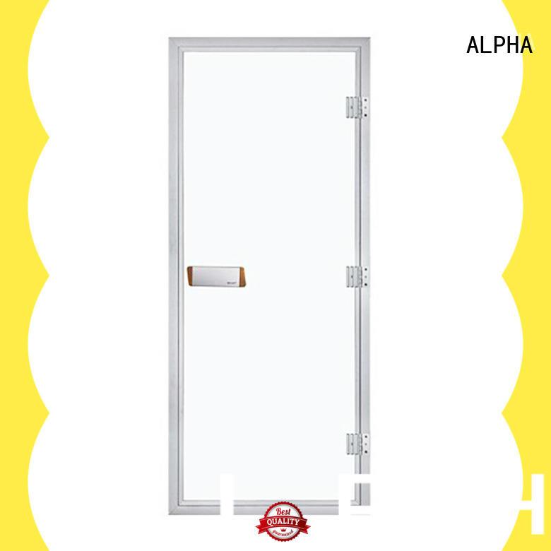 ALPHA sauna glass door manufacturers