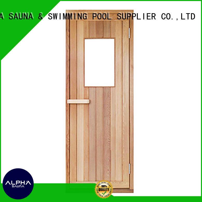 sauna wood door solid ALPHA Brand sauna door
