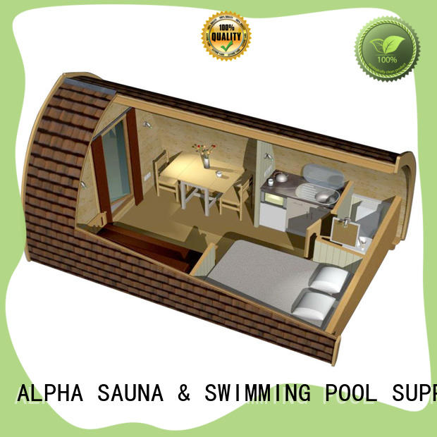 ALPHA normal wooden glamping pods 4800 for outdoor