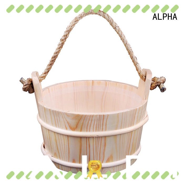 ALPHA aspenred sauna water bucket with good price for outdoor