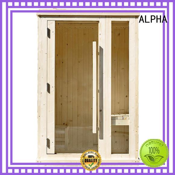 ALPHA option indoor sauna from China for indoor
