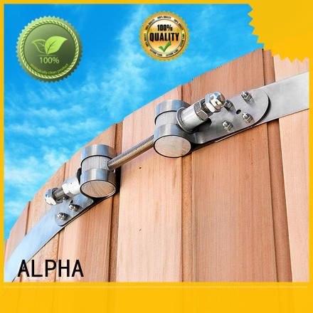 ALPHA thickness metal clamps factory price for cabin