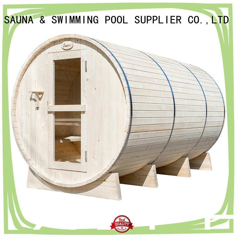 ALPHA round outdoor sauna manufacturer for villa
