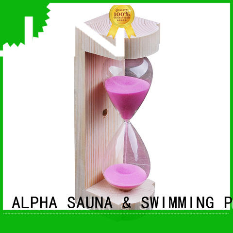 ALPHA orange sand hourglass personalized for household