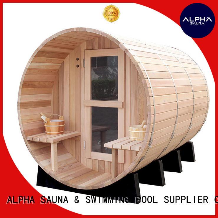 ALPHA shape cedar sauna factory for household