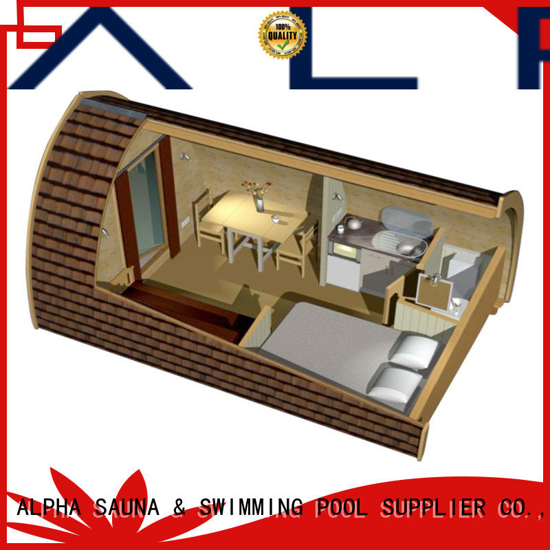 ALPHA wooden camping house factory for villa