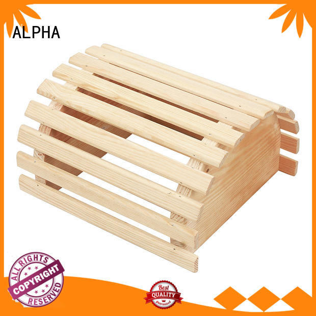sauna room accessories wooden carbonizing wooden lampshade ALPHA Brand