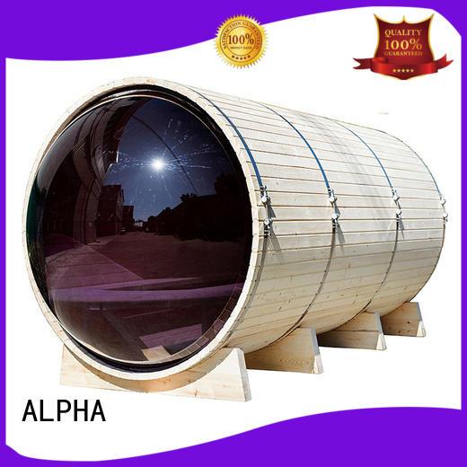 ALPHA Brand person canopy barrel panoramic sauna manufacture