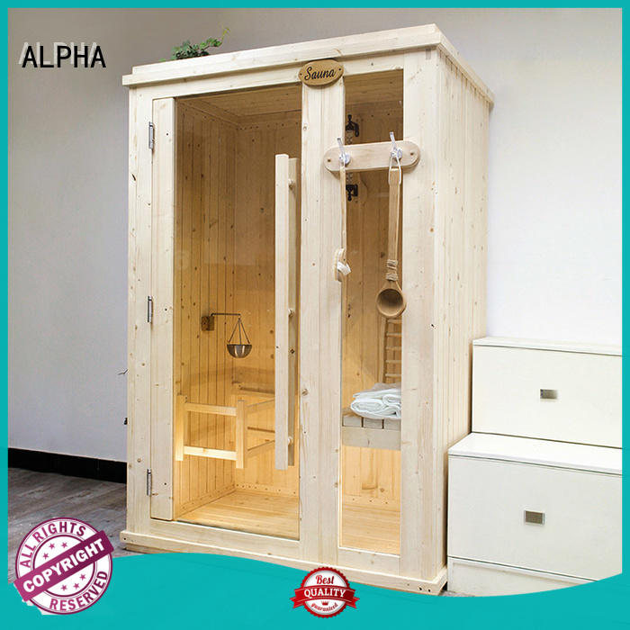 ALPHA insulation indoor steam sauna kits customized for household