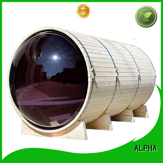 ALPHA certificated outdoor sauna directly sale for household