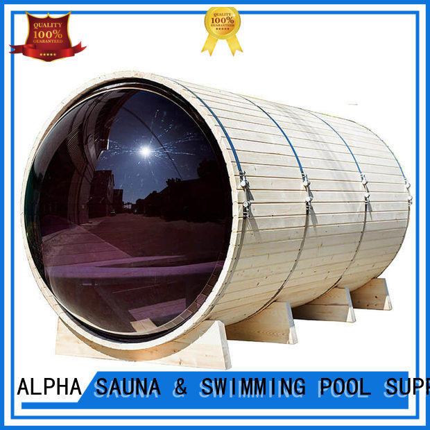 ALPHA barrel outside sauna supplier for bathroom