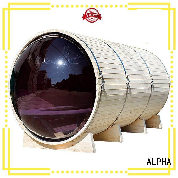 ALPHA panoramic panoramic sauna design for indoor